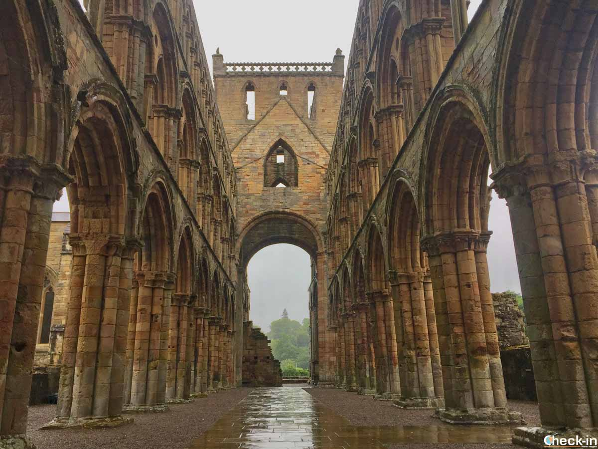 The ruins of Jedburgh Abbey - Scottish Borders, Scotland