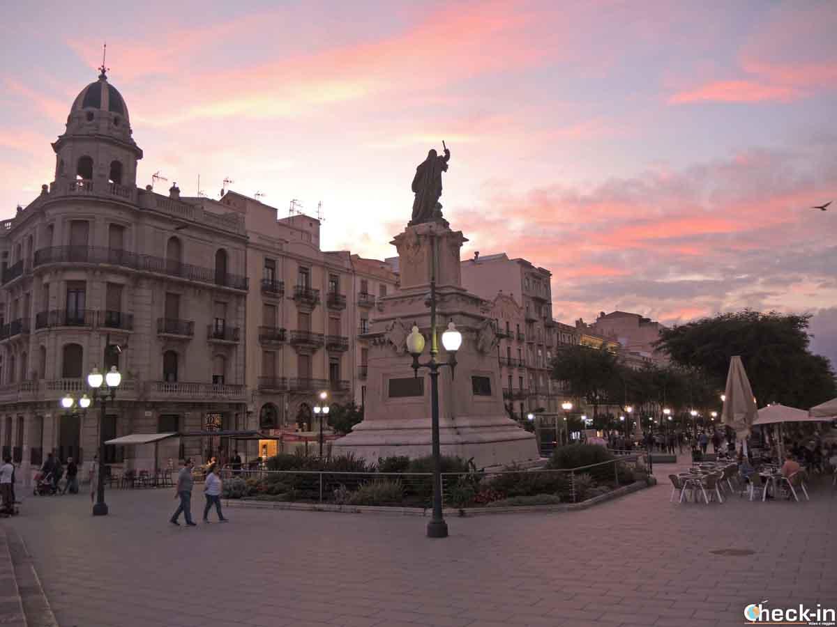 Cosa vedere a Tarragona: Rambla Nova al tramonto