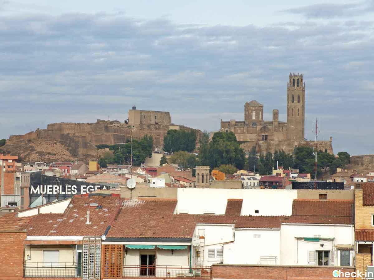 Panorama dal colle Gardeny a Lleida - Catalogna, Spagna