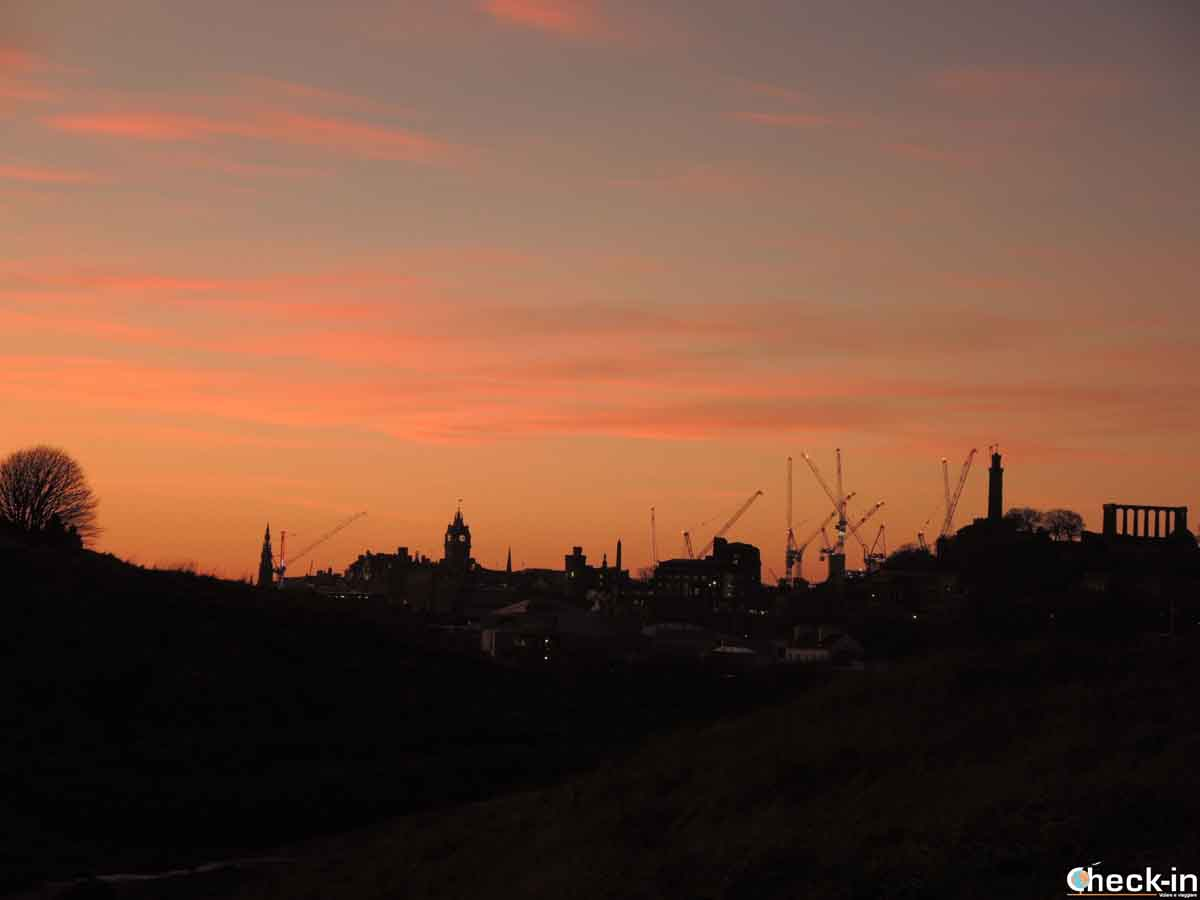 Luoghi più belli di Edimburgo: tramonto da Holyrood Park