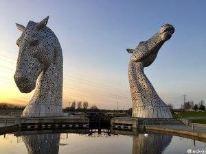 Cosa vedere a Falkirk: statue dei cavalli Kelpies