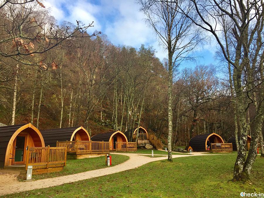 Gli Eco Lodge sulle sponde del Loch Katrine