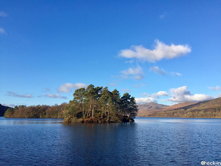 La Ellen's Isle di Walter Scott nel Loch Katrine