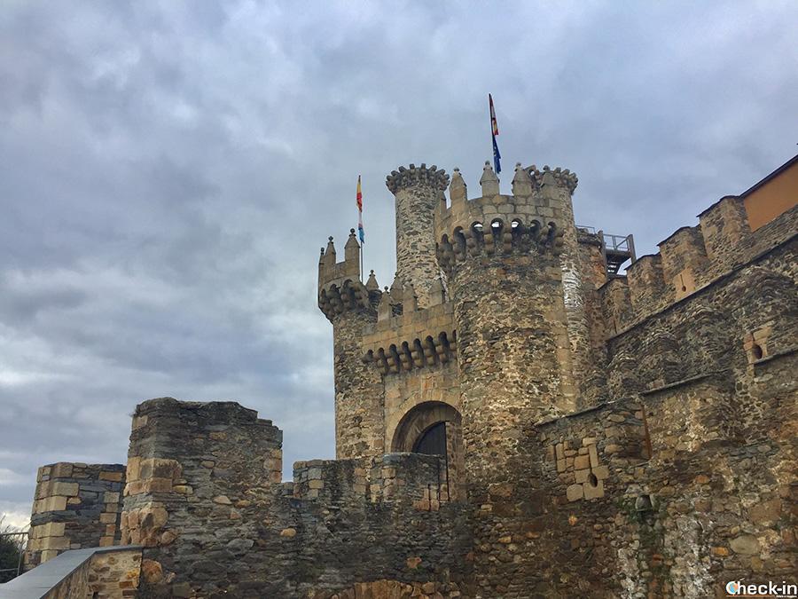 Entrata al castello dei Templari di Ponferrada - Spagna settentrionale