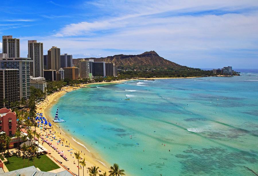 Le migliori spiagge degli Stati Uniti: Waikiki, Honolulu (Hawaii)