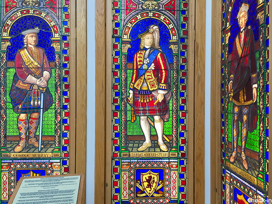 Stained glass windows at Howgate Shopping Centre - Falkirk town centre