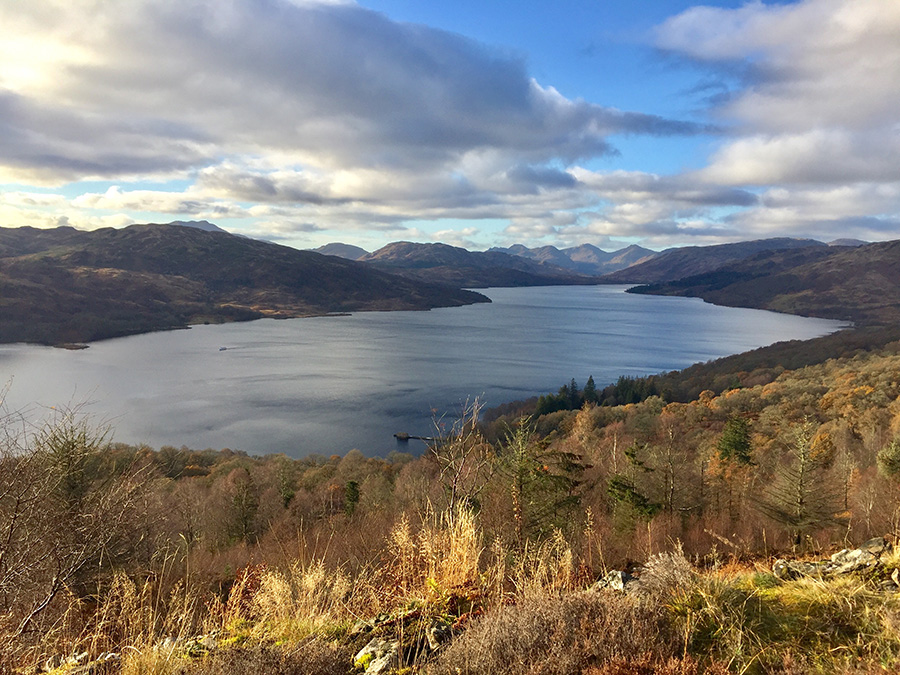 Viewpoint over Loch Katrine - Primrose Hill (Central Scotland)