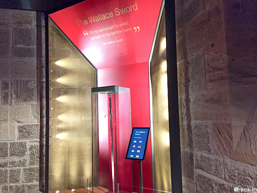 National landmarks in Scotland: the legenday Wallace Sword