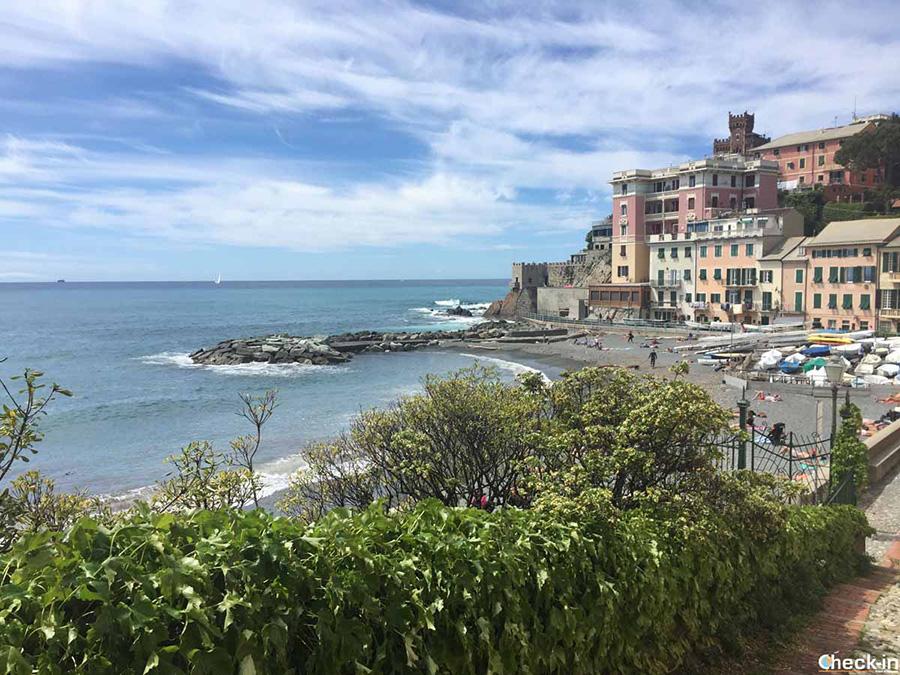 Spiaggia di Vernazzola a Genova Sturla