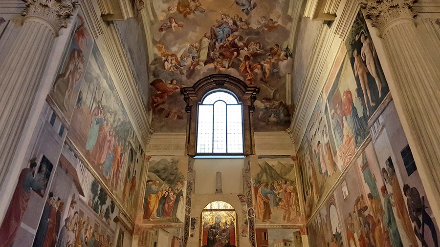 "Hidden gems in Florence - ""Brancacci Chapel"" inside the Church of Santa Maria del Carmine"