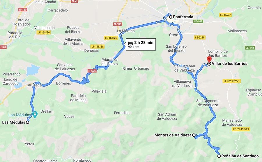 4 sitios que hay quer en la comarca del Bierzo