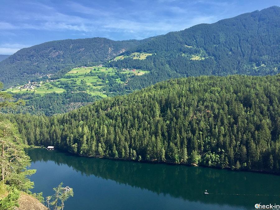 Panorama del Piburger See dal Seejöchl - Ötztal, Austria