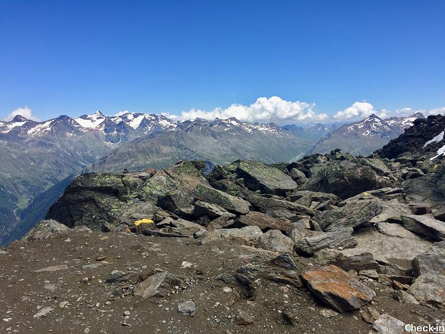 Passo del Rombo (o Timmelsjoch) visto dal Gaislachkogel - Ötztal, Tirolo