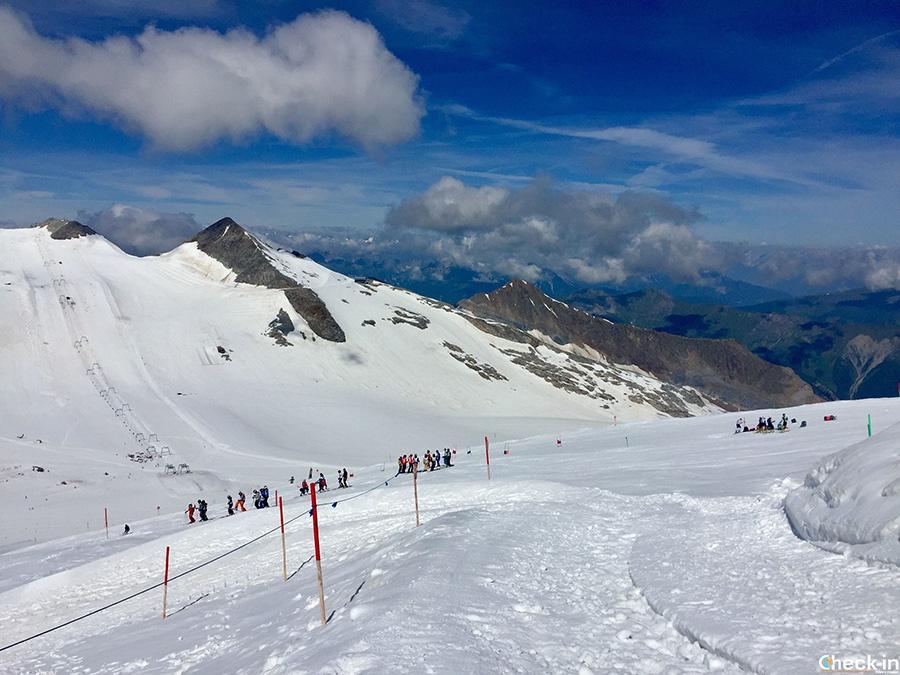 Escursione nella Zillertal per sciare sul ghiacciaio a metà luglio - Hintertux, Austria