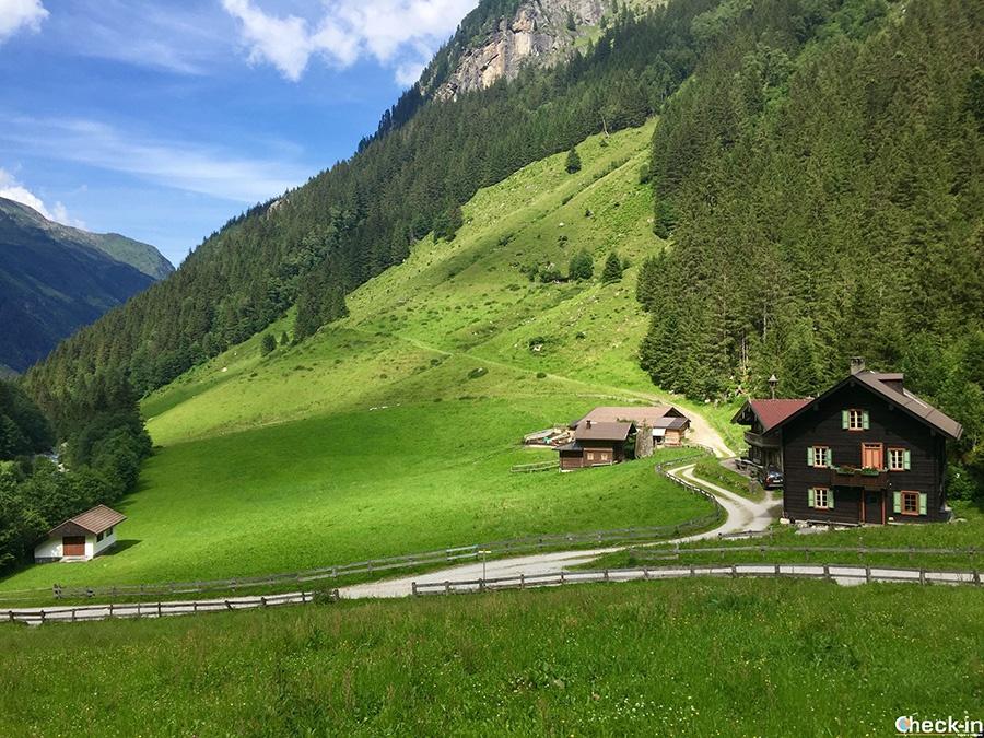 Sentieri escursionistici nella valle Zillertal in Tirolo (Austria)