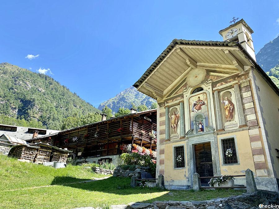 Cosa vedere a Alagna Valsesia - Oratorio di S. Nicolao (Piemonte)