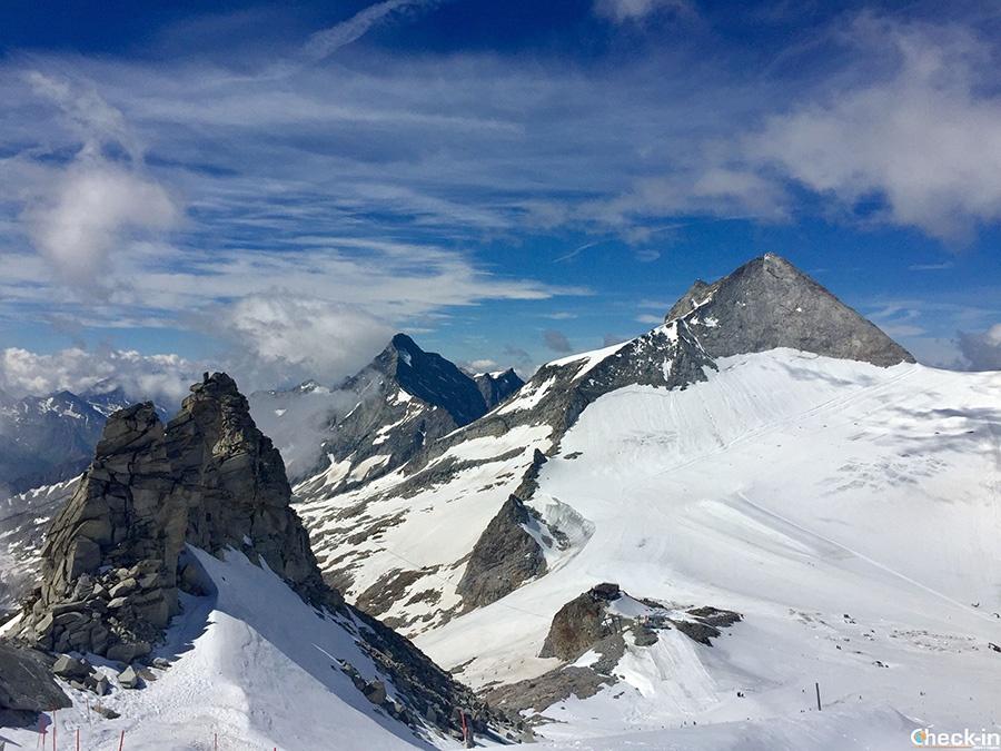 Luoghi più belli del Tirolo: belvedere sulle Alpi della Zillertal da Hintertux
