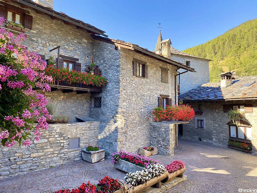 Tipico villaggio alpino in Valle d'Aosta: Verrand (Pré-Saint-Didier)