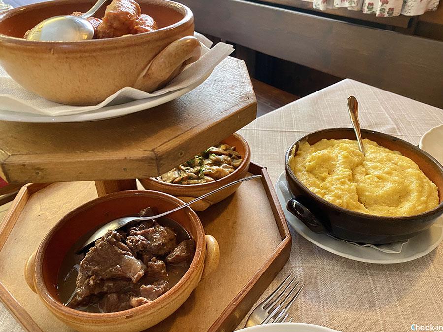 """Cucina tipica valdostana a Entrèves: Polenta con tris di umidi alla """"Brasserie"""""""