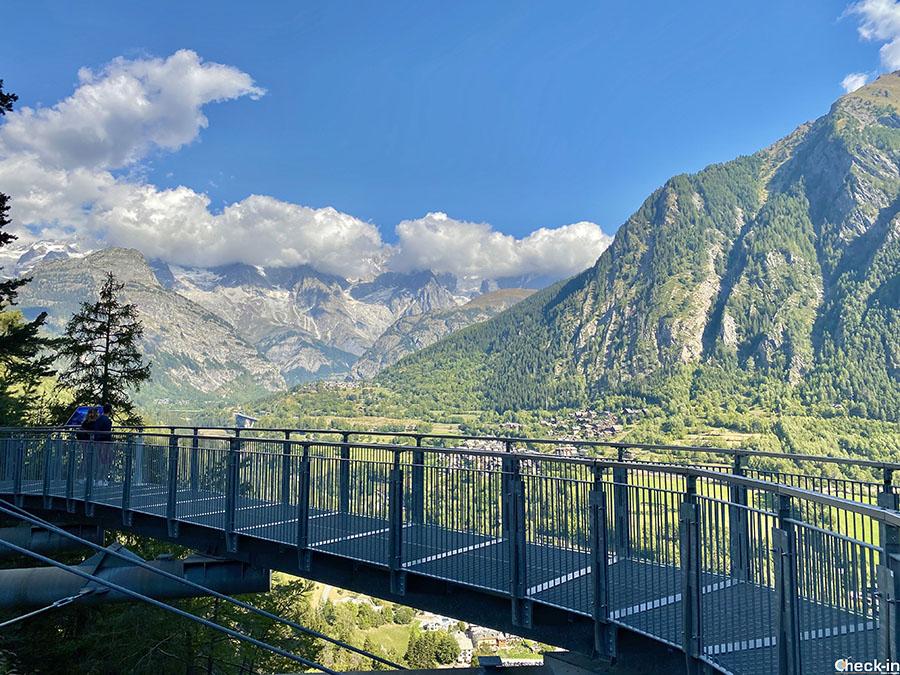 """Attrazioni della Valle d'Aosta: belvedere """"Orrido di Pré Saint Didier"""""""