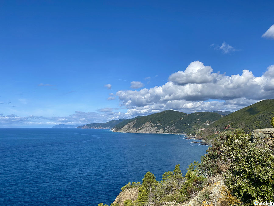 Sentieri panoramici vicino a Bonassola - Liguria di levante