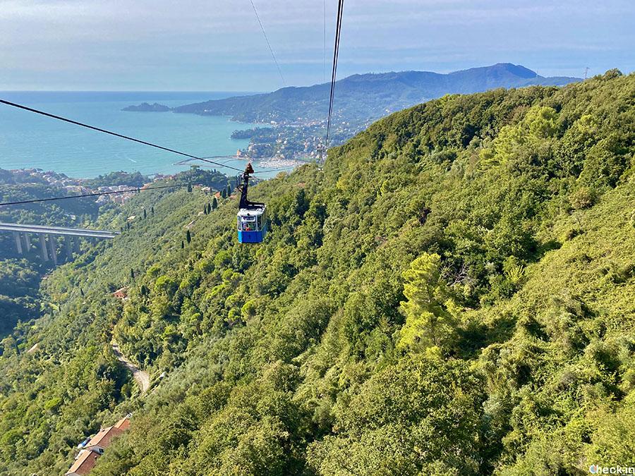 5 cose da fare a Rapallo: prendere la funivia verso il Santuario di NS di Montallegro - Riviera ligure di levante