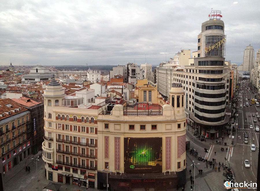 """Mejores miradores en centro Madrid: Callao al """"Cortes Inglés"""""""