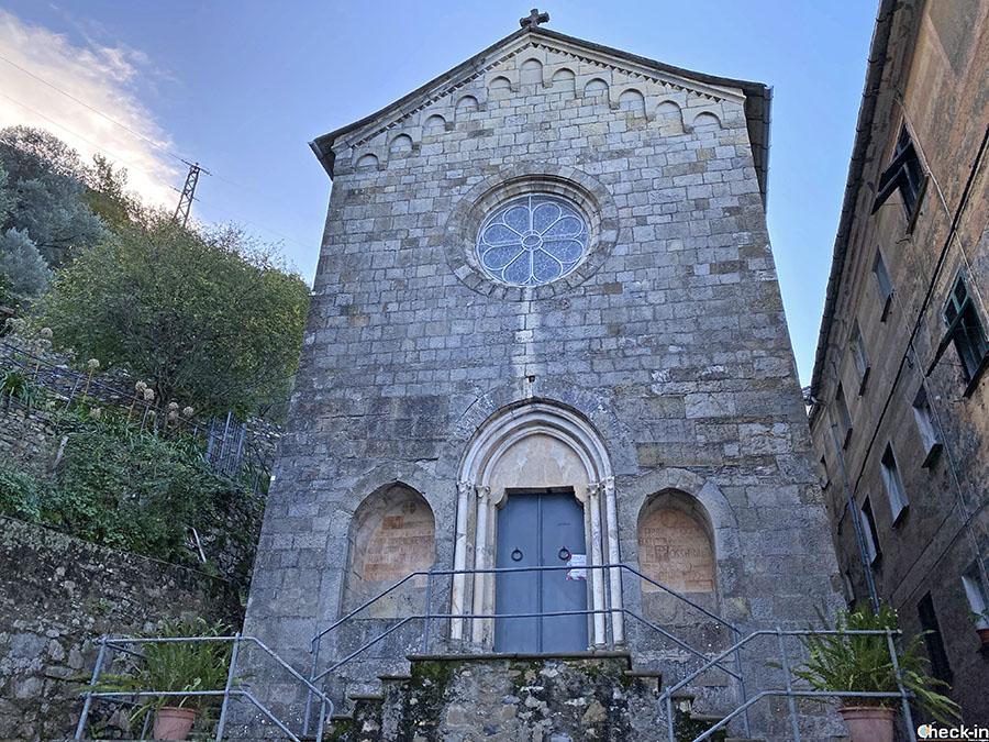 Itinerario da San Rocco di Camogli a Punta Chiappa: Chiesa di S. Nicolò di Capodimonte