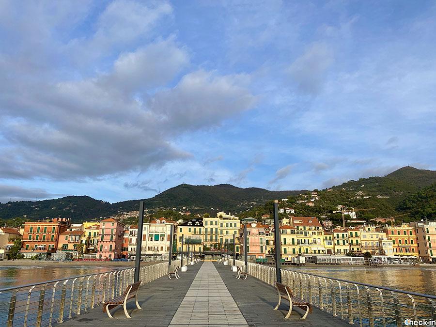 Panorama di Alassio dal pontile Bestoso (Liguria)