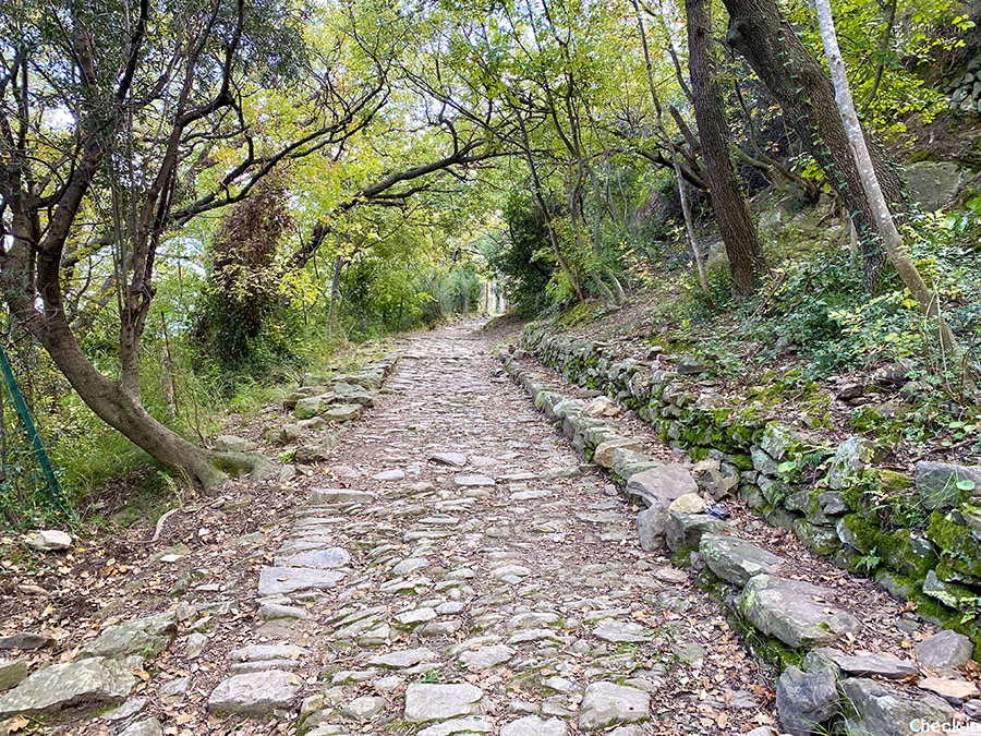 Lastricato originale di epoca romana tra Alassio e Albenga - Camminata in Liguria