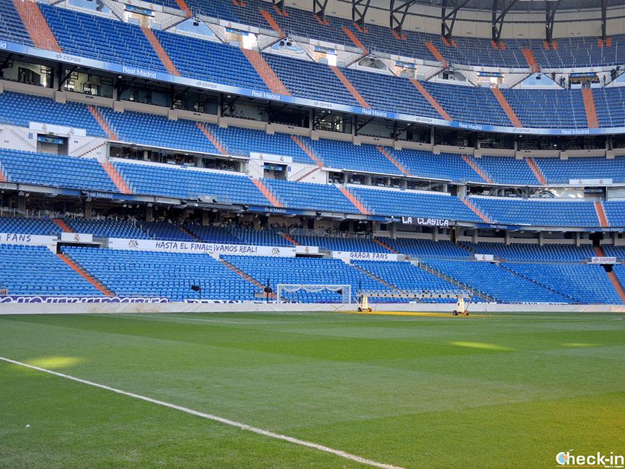 Lugares de visita del estadio Bernabéu del Real Madrid: terreno de juego