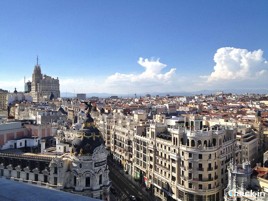 9 vistas panorámicas en Madrid: Azotea del Círculo de Bellas Artes (calle Alcalá)