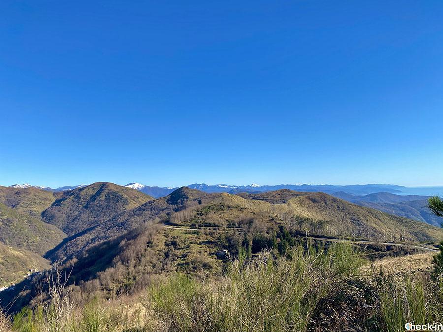 Strada provinciale 67 da Genova al monte Fasce - Appennino ligure