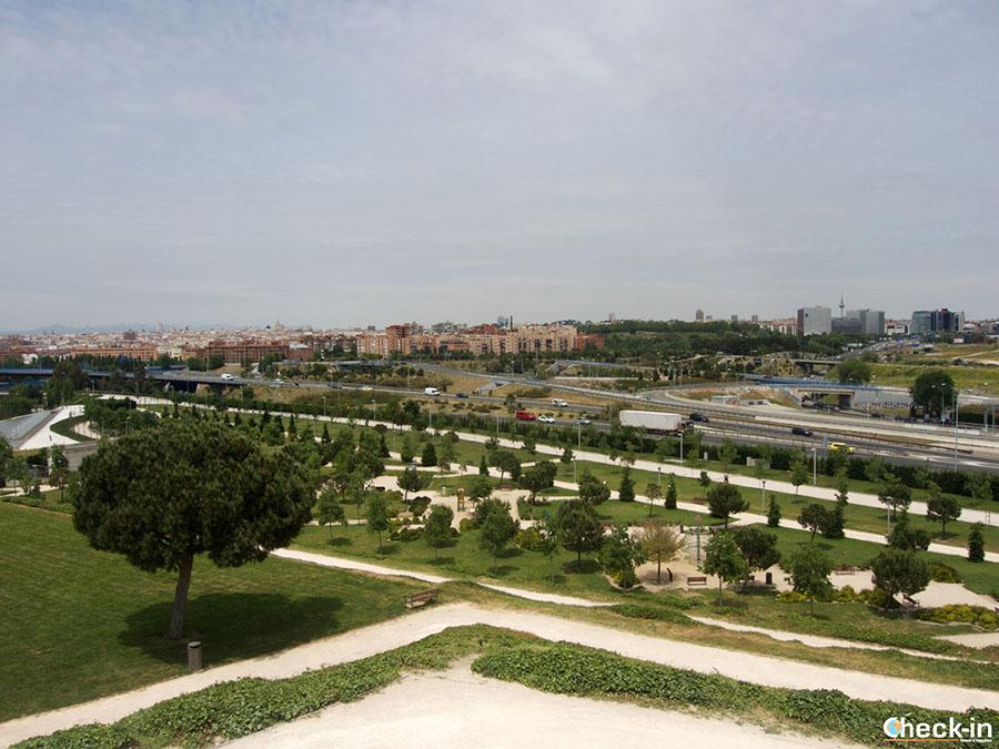 Mirador de la Dama del Manzanares (Parque Lineal) al suroeste de Madrid