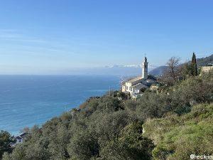 Sentiero panoramico Chiesa Sant'Apollinare - Golfo Paradiso, provincia di Genova