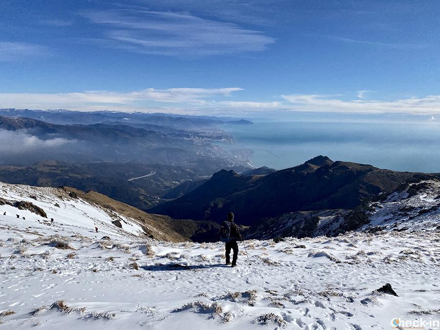 Terrazza panoramica sulla costa ligure dal monte Reixa - Parco naturale del Beigua