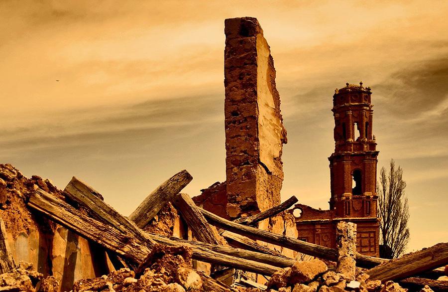 14 tours en Aragón: visita de Belchite desde Zaragoza