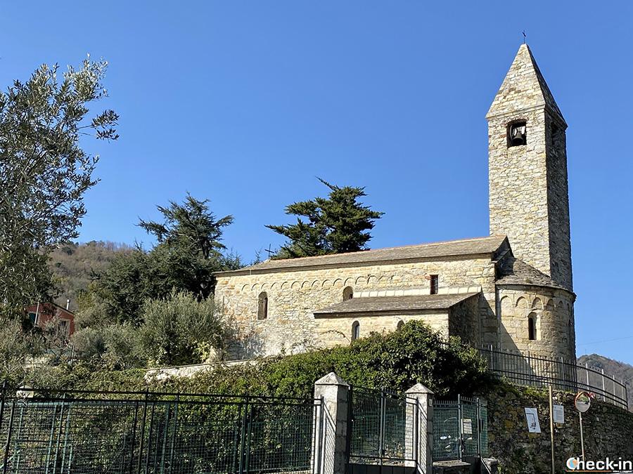 Chiesa millenaria di Ruta, frazione di Camogli (Liguria)