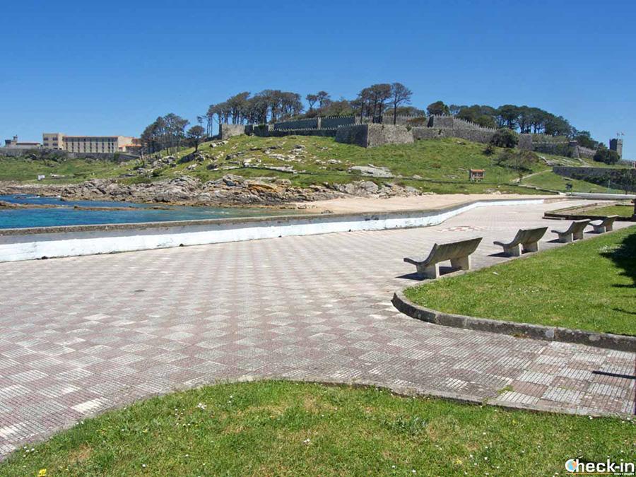 Lugares de interés en Baiona: fortaleza de Monterreal - Sur de Galicia, España