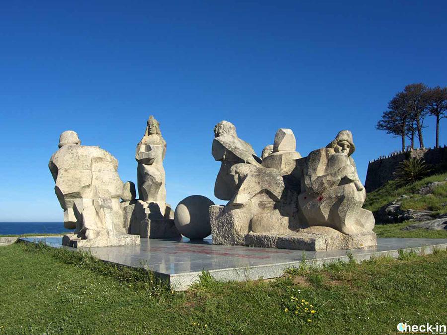 """Ubicación del Monumento """"Encuentro entre los dos mundos"""" en Baiona - Norte de España"""