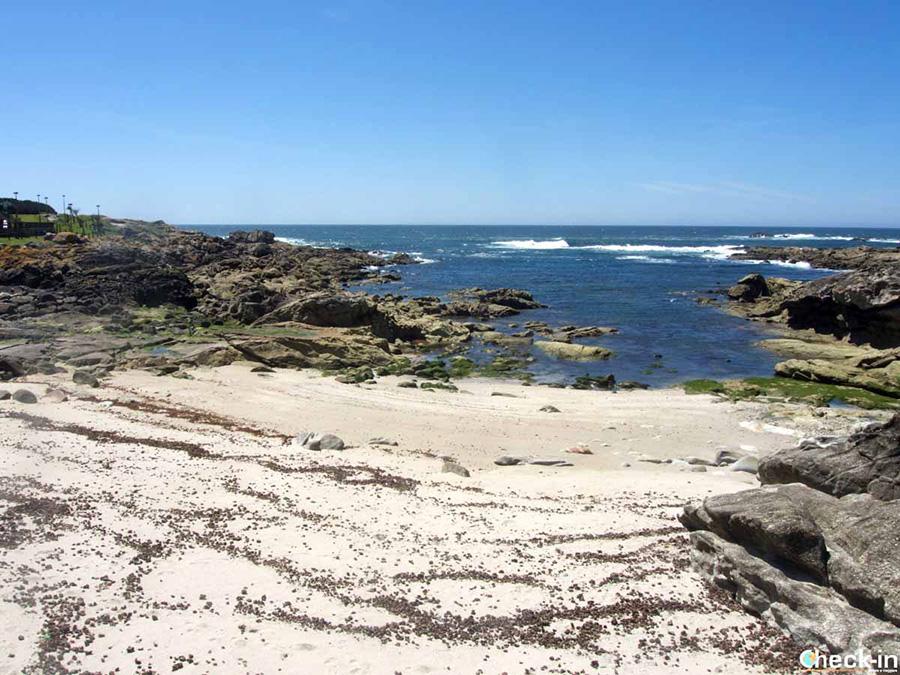 Praia de Area Grande en A Guarda - Sur de Galicia, España