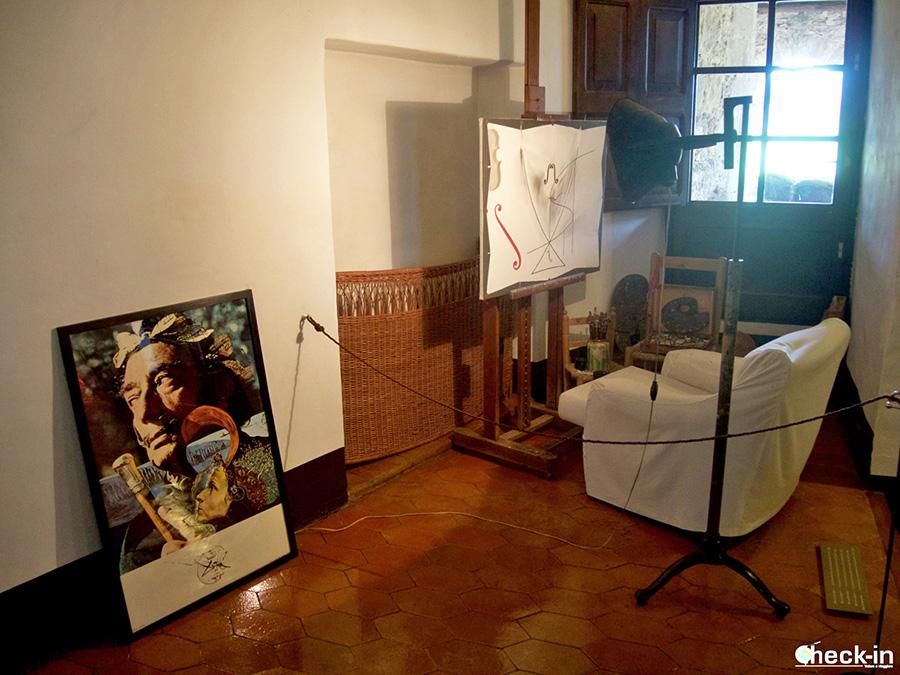 Comedor y estudio de Dalí en el Castillo de Gala en Púbol - La Pera, Gerona