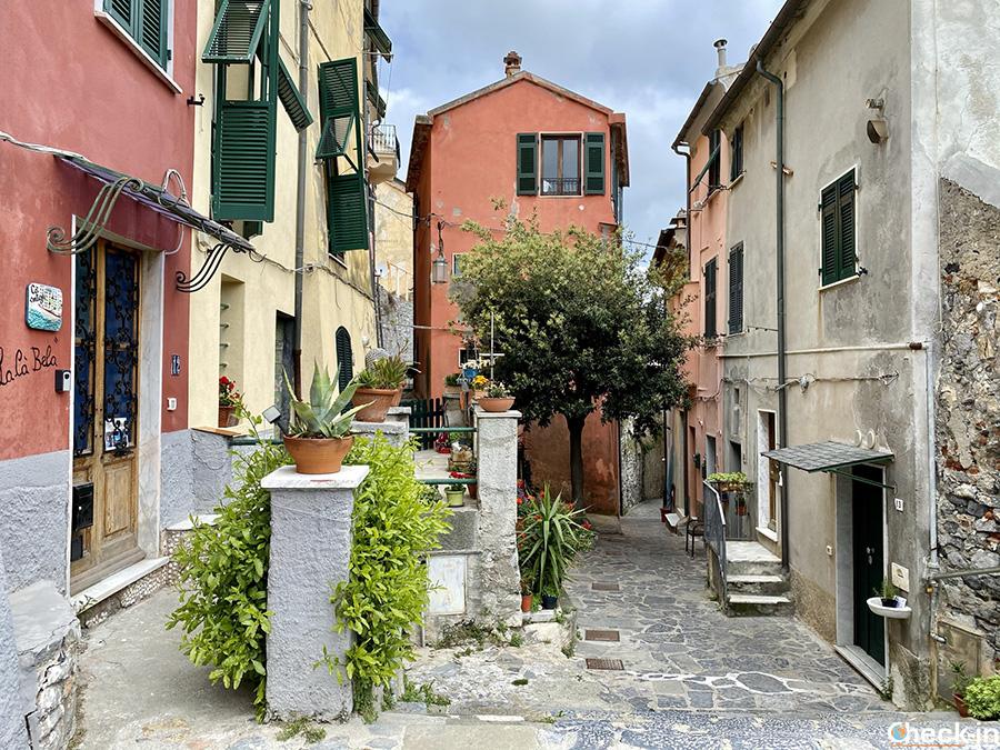 Typical urban landscape in a Ligurian village - Portovenere's old town