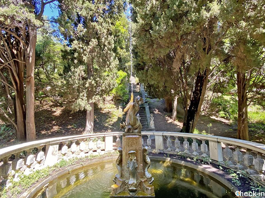 Fontana della Sirena - Cosa vedere nei giardini Hanbury di Ventimiglia