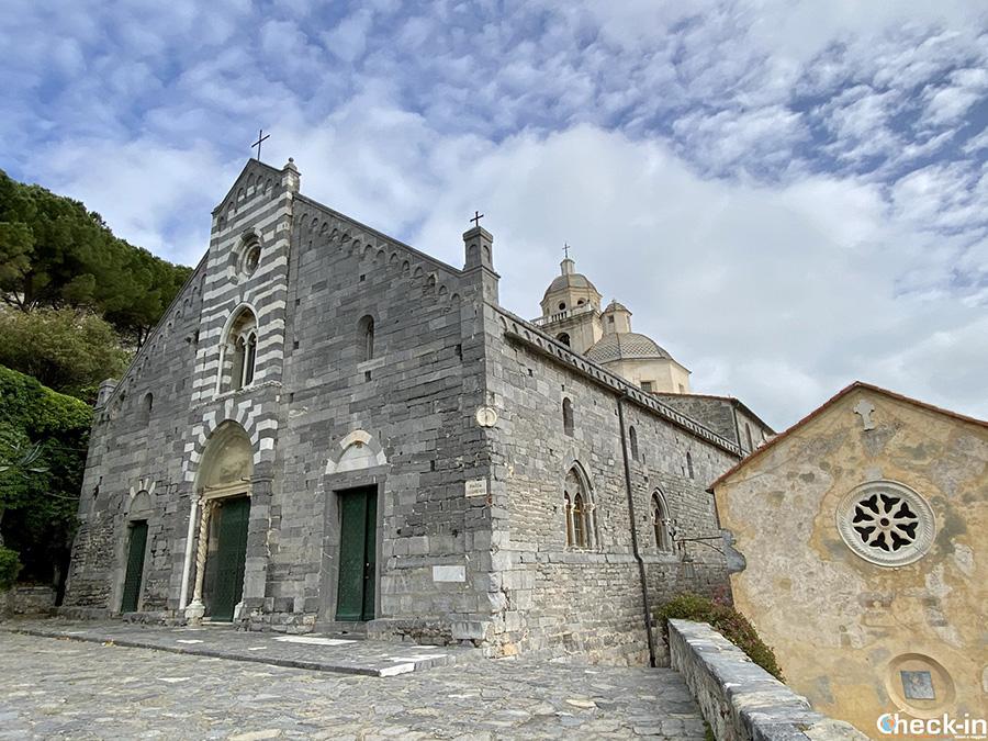 Chiesa parrocchiale di San Lorenzo di Portovenere - Leggenda del dipinto della Madonna Bianca
