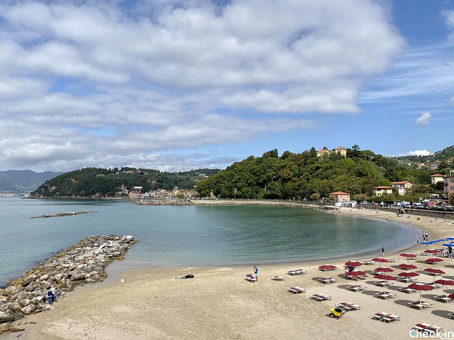 Spiagge libere ed attrezzate tra San Terenzo e Lerici - Golfo dei Poeti, Liguria