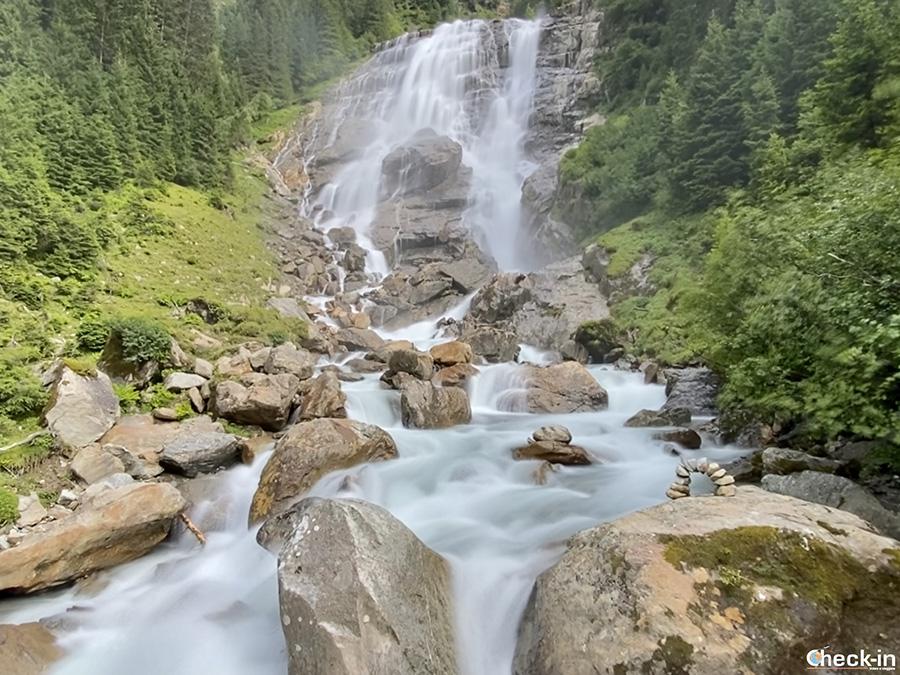 Escursione alla cascata Grawa vicino a Neustift, la più larga delle Alpi Orientali - Stubaital, Tirolo