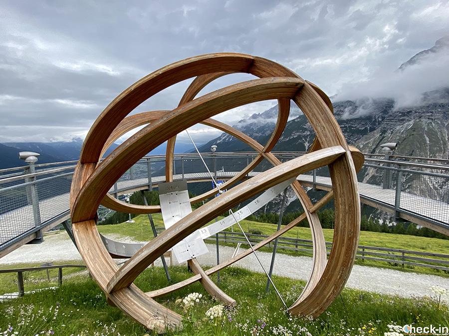Attrazioni per bambini nella Valle di Stubai in Tirolo: orologio solare a Neustift