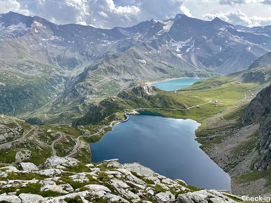 Laghi Serrù e Agnel dal Colle del Nivolet (2.612 m) - Parco Nazionale del Gran Paradiso