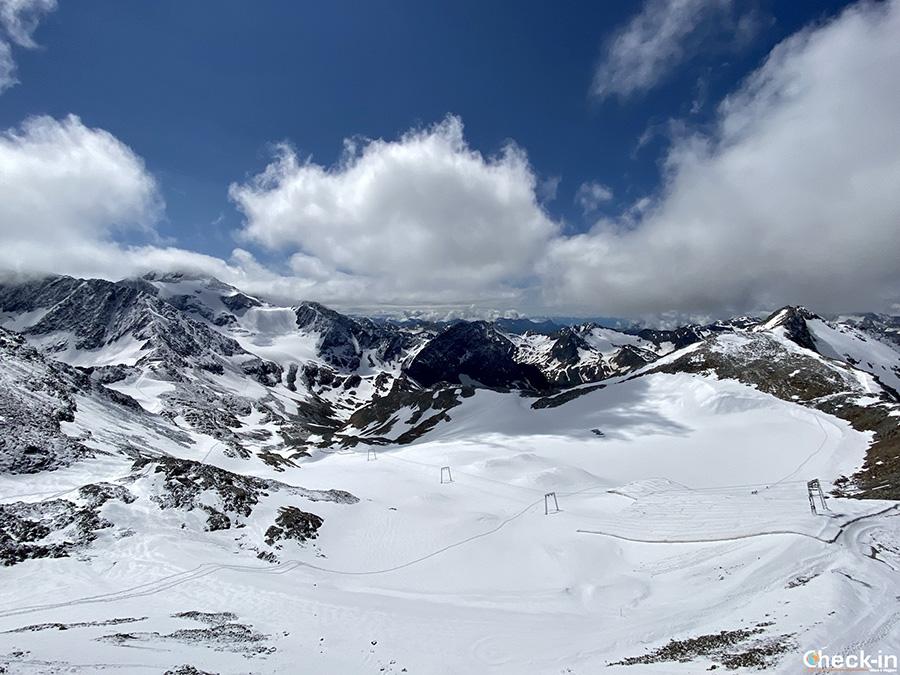 Informazioni per arrivare in auto e mezzi pubblici al ghiacciaio dello Stubai in Tirolo